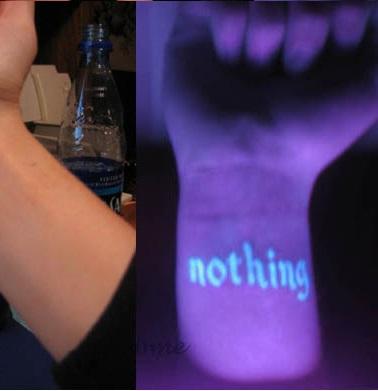 Татуировки светящиеся как сделать
